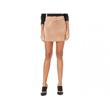 Blank NYC Real Suede Miniskirt with Belt