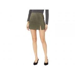 Blank NYC Suede Skirt w Side Slit