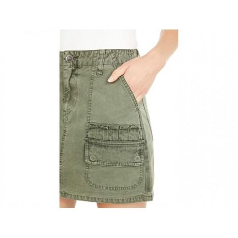Hudson Jeans Hunter Mini Skirt in Military Olive
