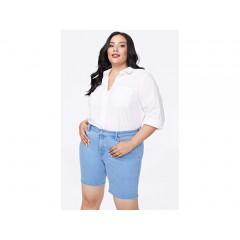 NYDJ Plus Size Plus Size Ella Shorts with Side Slits in Belle Isle