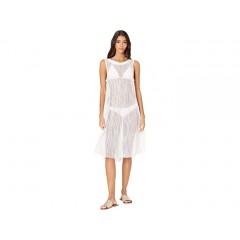 Carmen Marc Valvo Monaco Tides High Neck Mesh Cover-Up Dress w All Over Sequins