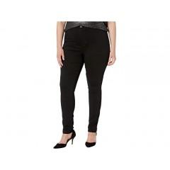 JUNAROSE One High-Waisted Slim Jeans in Black Denim