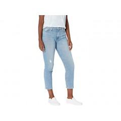 Hudson Jeans Barbara High-Waist Crop Straight in Lights On