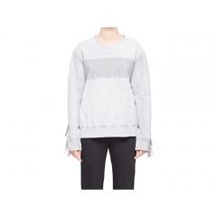 MM6 Maison Margiela Oversized Fringe Shadow Sweatshirt