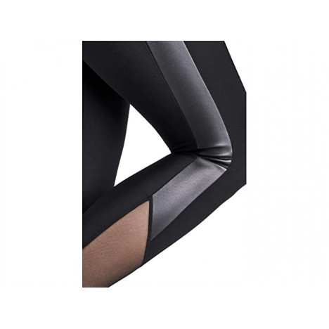 Wolford Billie Leggings with Vegan Leather and Mesh