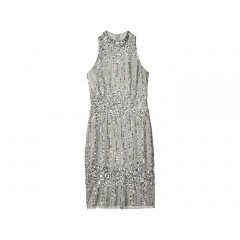 Adrianna Papell Beaded Pearl Cocktail Dress