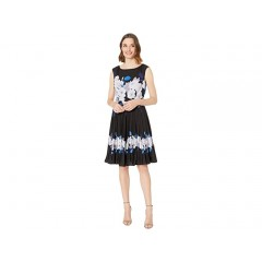 Adrianna Papell Shadow Rose Pleated Dress