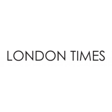 London Times Kors Crepe Short Sleeve Front Waist Tie Fit and Flare