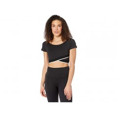 Beyond Yoga Crossed For Words Reversible Cropped Top