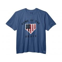 Life is Good Brave Home Plate Crusher Tee