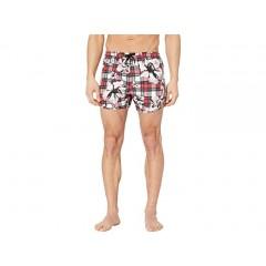 Neil Barrett Tartan Flower Swimsuit