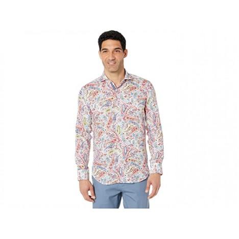 BUGATCHI Clay Paisley Linen Shirt