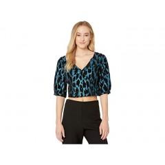 BB Dakota x Steve Madden In The Spotlight Leopard Jacquard Puff Sleeve Top
