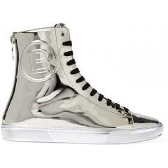 Balmain Mirror Leather Hightop Sneaker