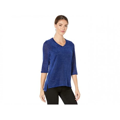 FDJ French Dressing Jeans Overlapping V-Neck 3 4 Sleeve Top