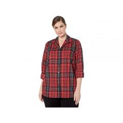 Foxcroft Plus Size Wrinkle Free Pandora Matheson Tartan Tunic