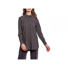 Lysse Schiffer Stretch Microfiber Button-Down with Contrast Inner Cuff