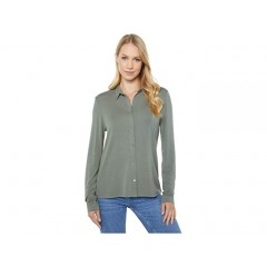 Majestic Filatures Long Sleeve Button Down Top