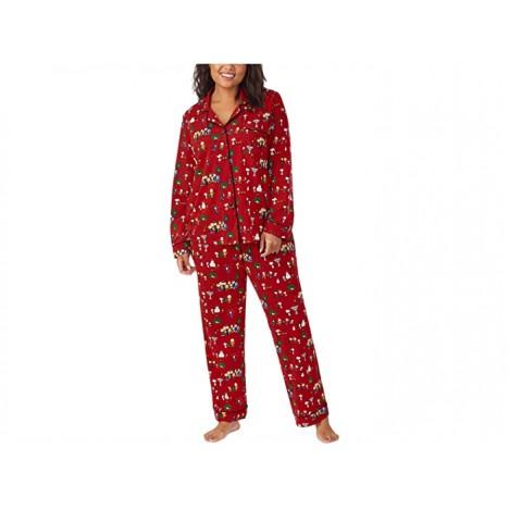 BedHead Pajamas Plus Size Long Sleeve Classic Notch Collar Pajama Set