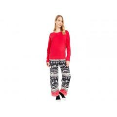 HUE Wild Holiday Fleece PJ Set