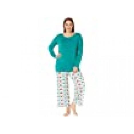 Kickee Pants Plus Size Long Sleeve Loosey Goosey Tee & Pants PJ Set